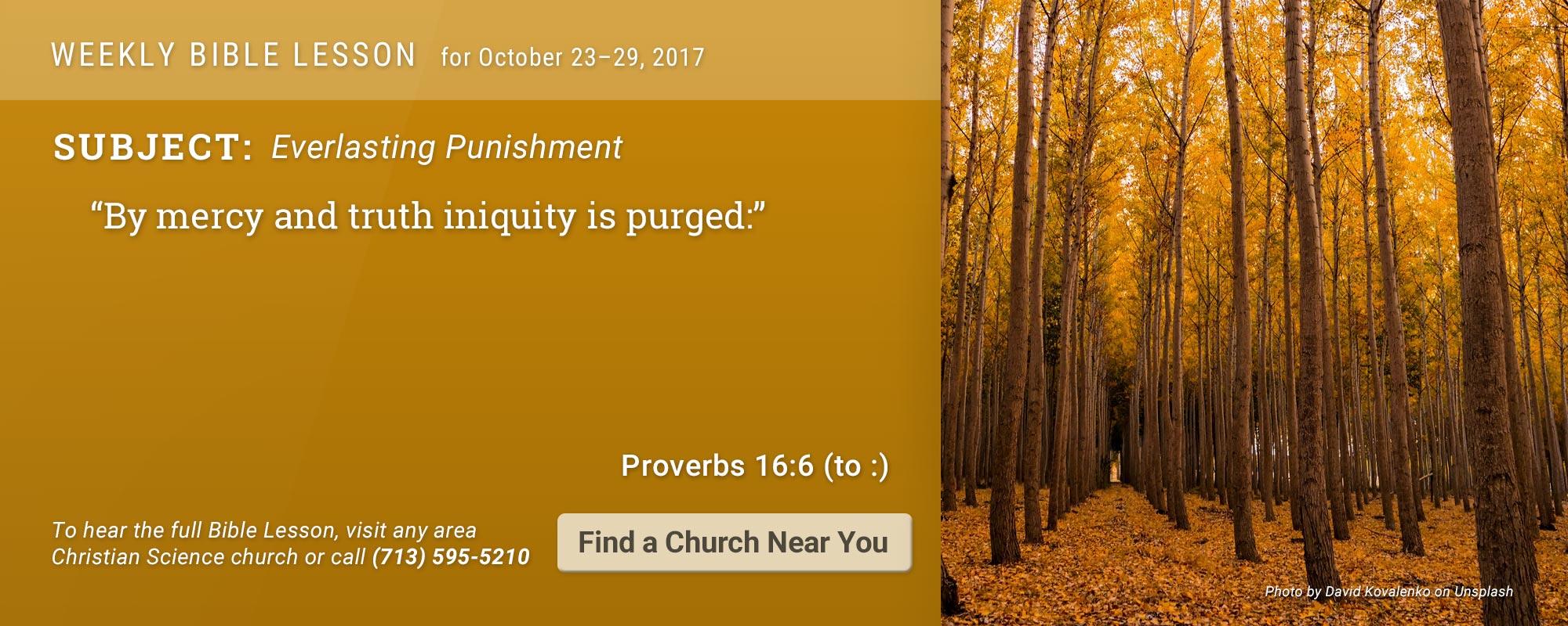 Bible Lesson Golden Text 20171023