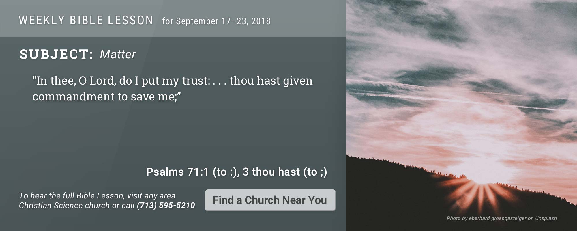 Bible Lesson Golden Text 20180917