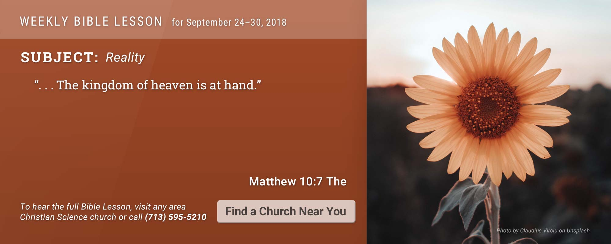 Bible Lesson Golden Text 20180924