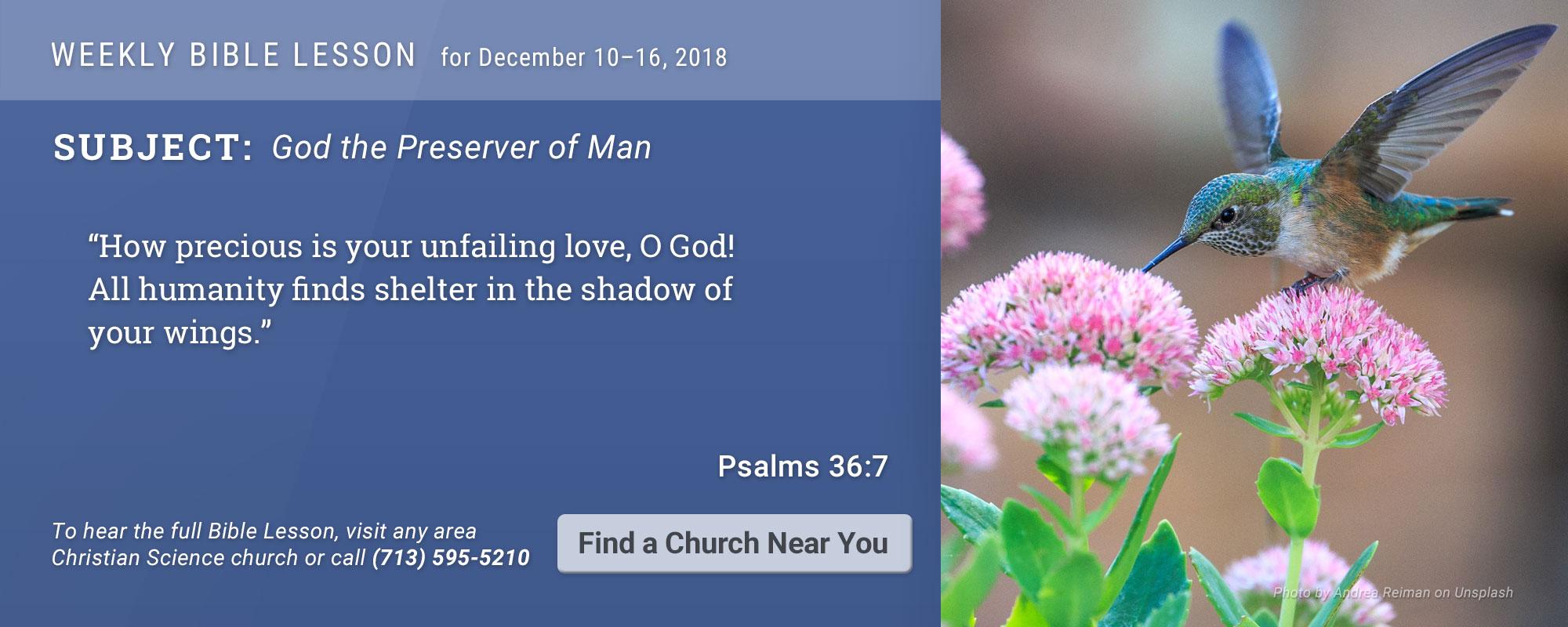 Bible Lesson Golden Text 20181210