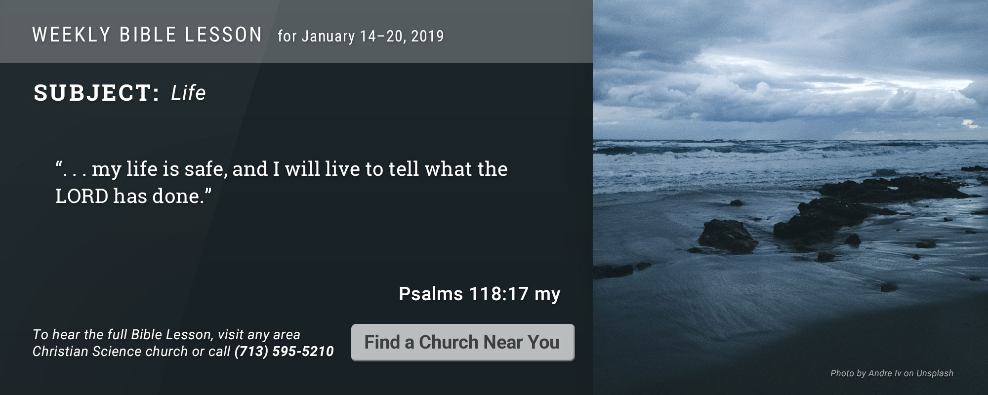 Bible Lesson Golden Text 20190114