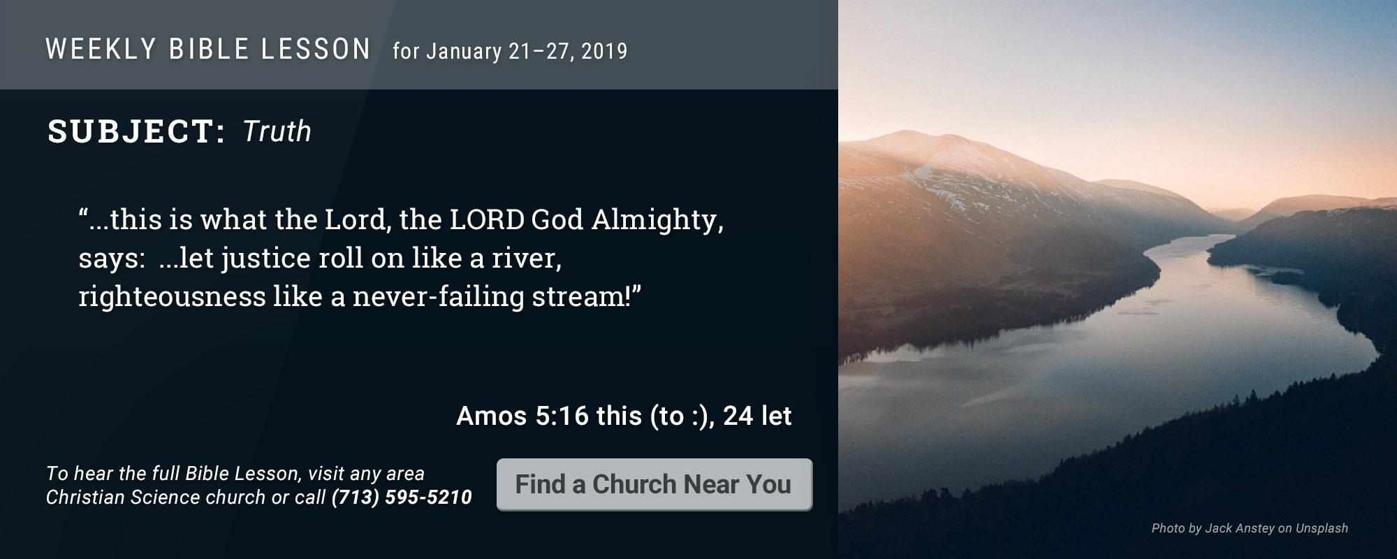 Bible Lesson Golden Text 20190121