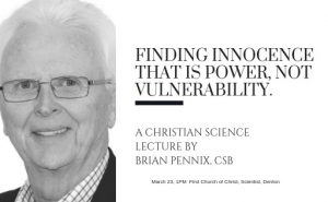 [:en]A lecture on Christian Science by Brian Pennix, CSB[:] @ First Church of Christ, Scientist, Denton | Denton | Texas | United States
