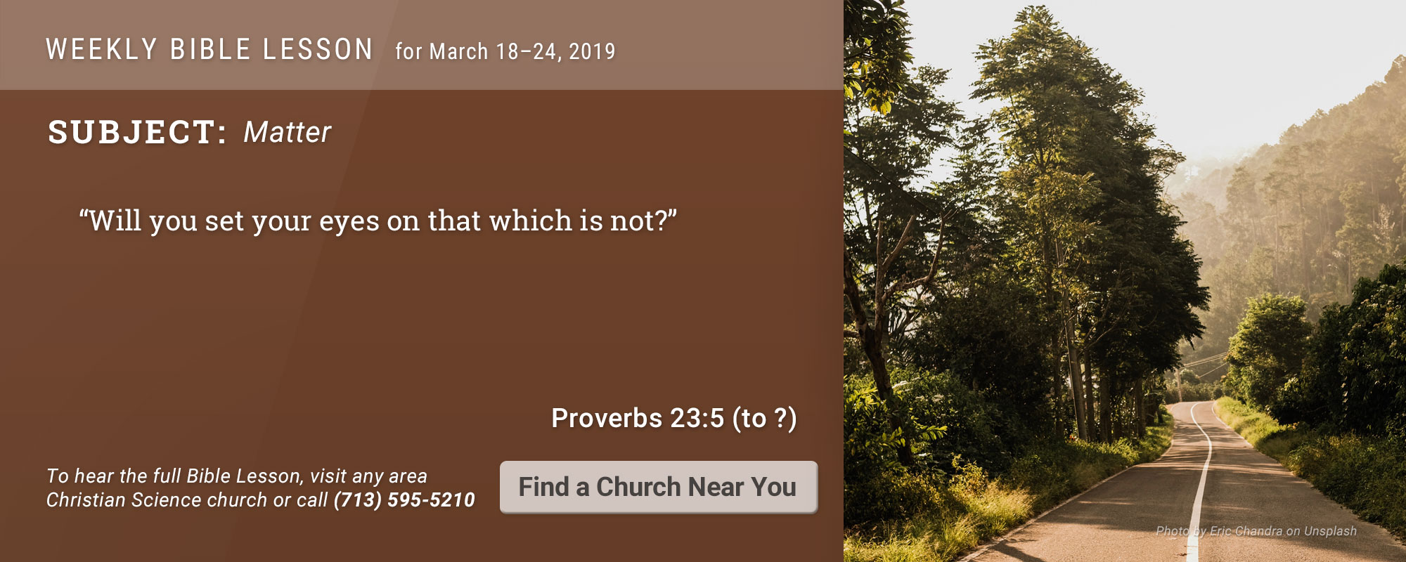 Bible Lesson Golden Text 20190318