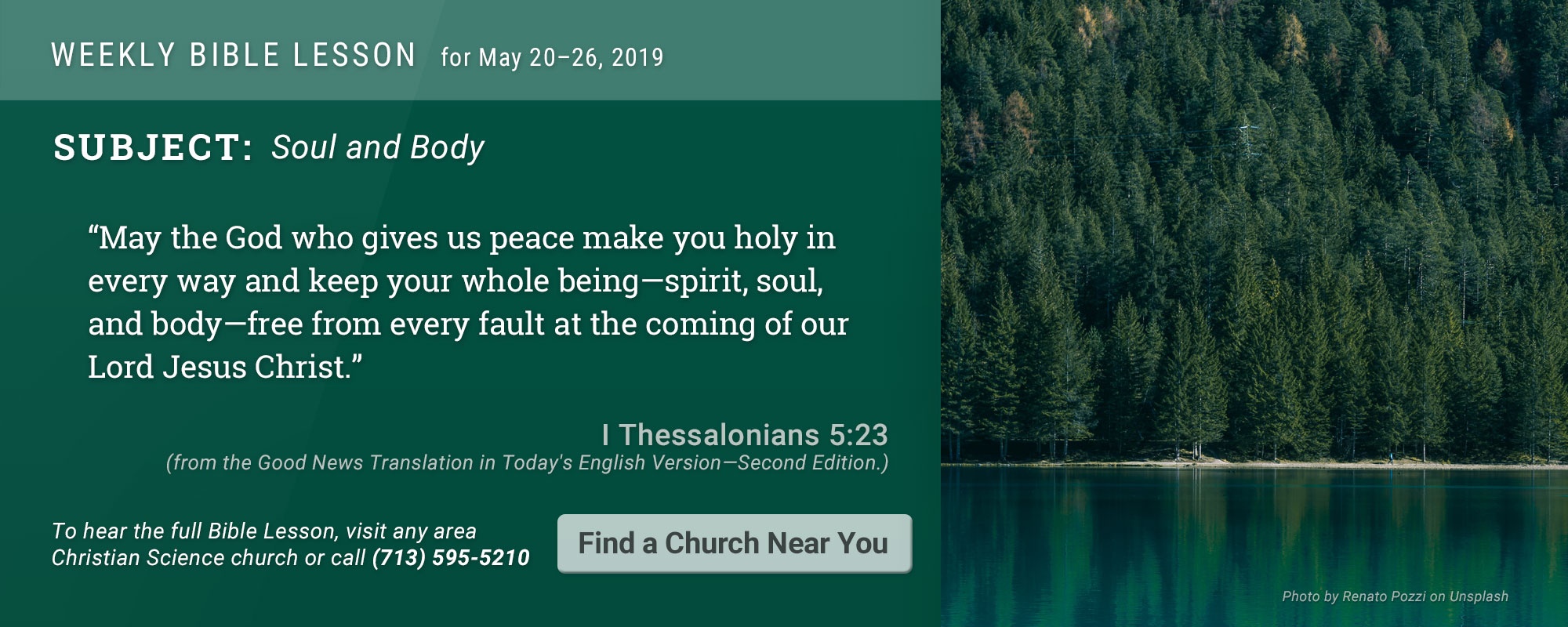 Bible Lesson Golden Text 20190520
