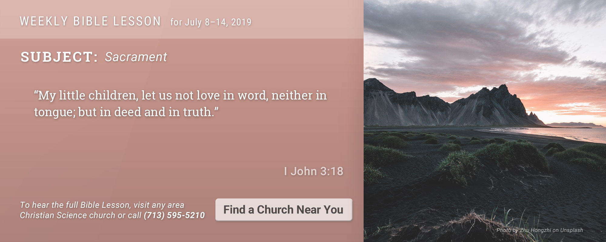 Bible Lesson Golden Text 20190708