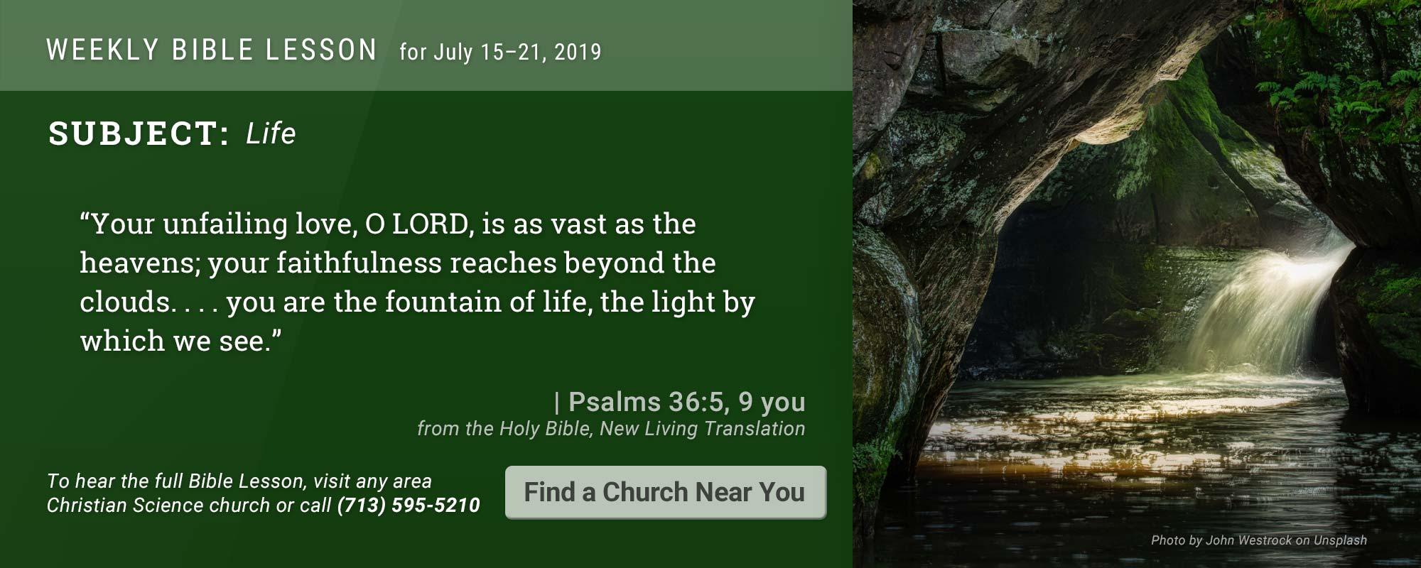 Bible Lesson Golden Text 20190715