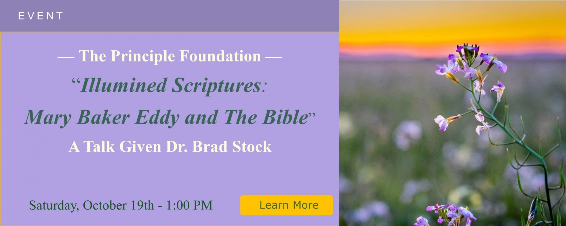 Principle Foundation Dr. Brad Stock 1