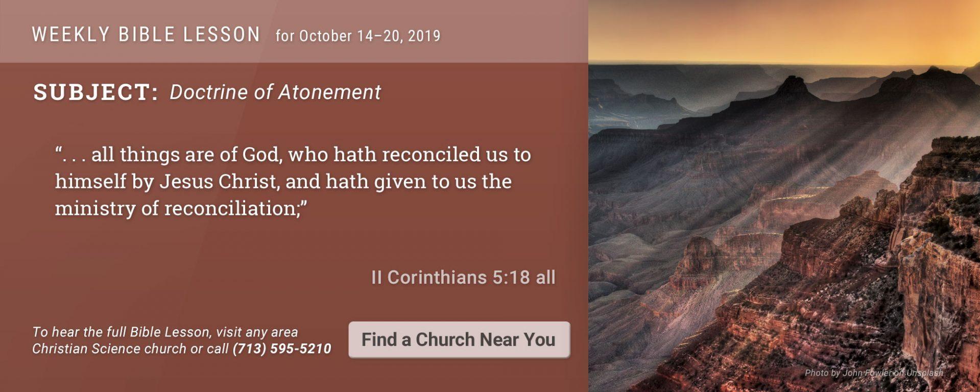 Bible Lesson Golden Text 20191014
