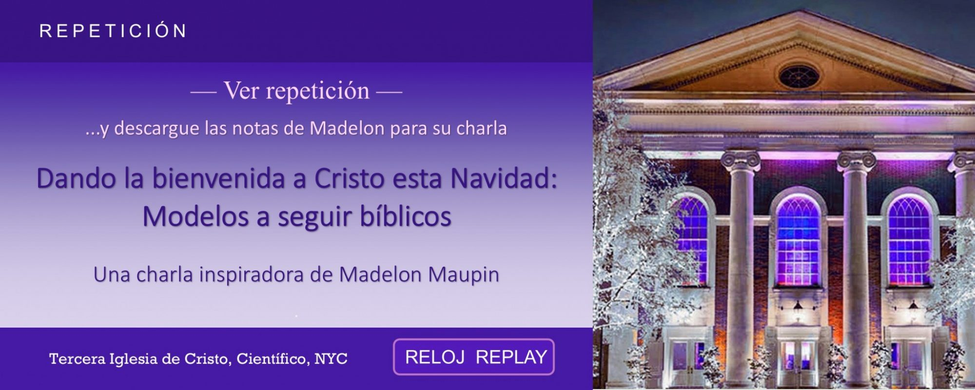 Third Church Nyc Christmas Eve Talk 2019 Madelon Maupin (replay Es)