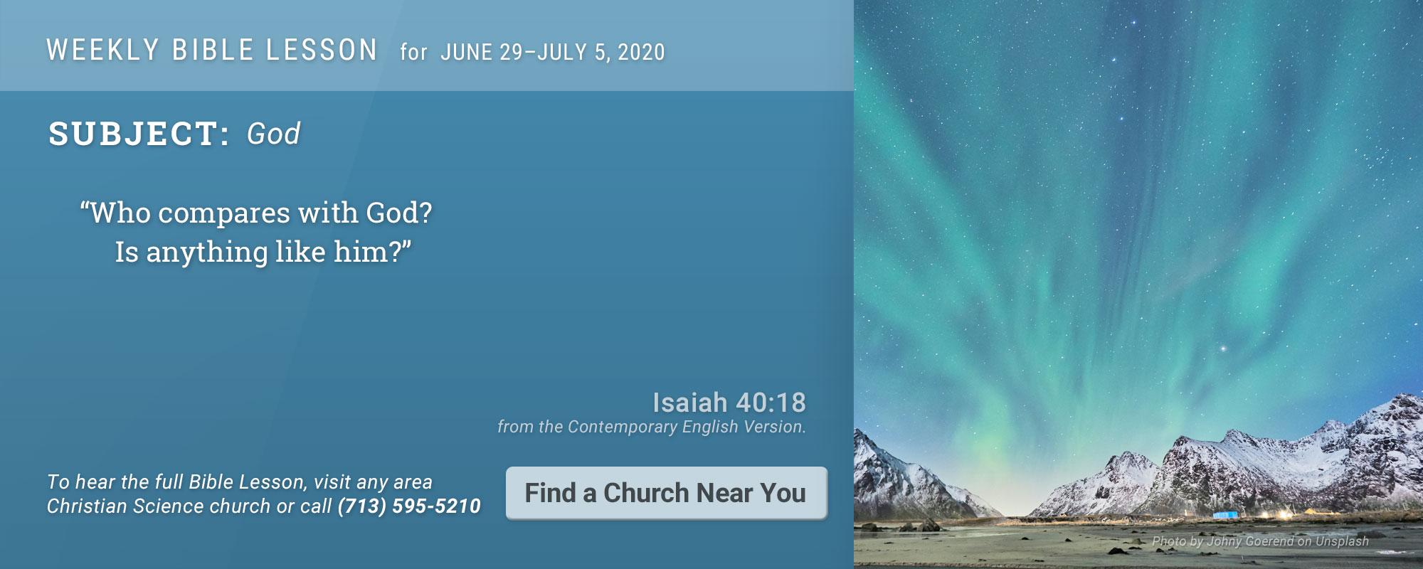 Bible Lesson Golden Text 20200629