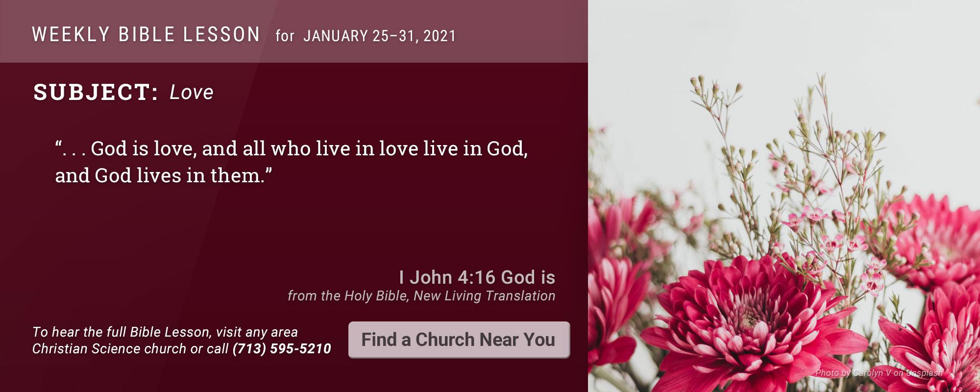 Bible Lesson Golden Text 20210125