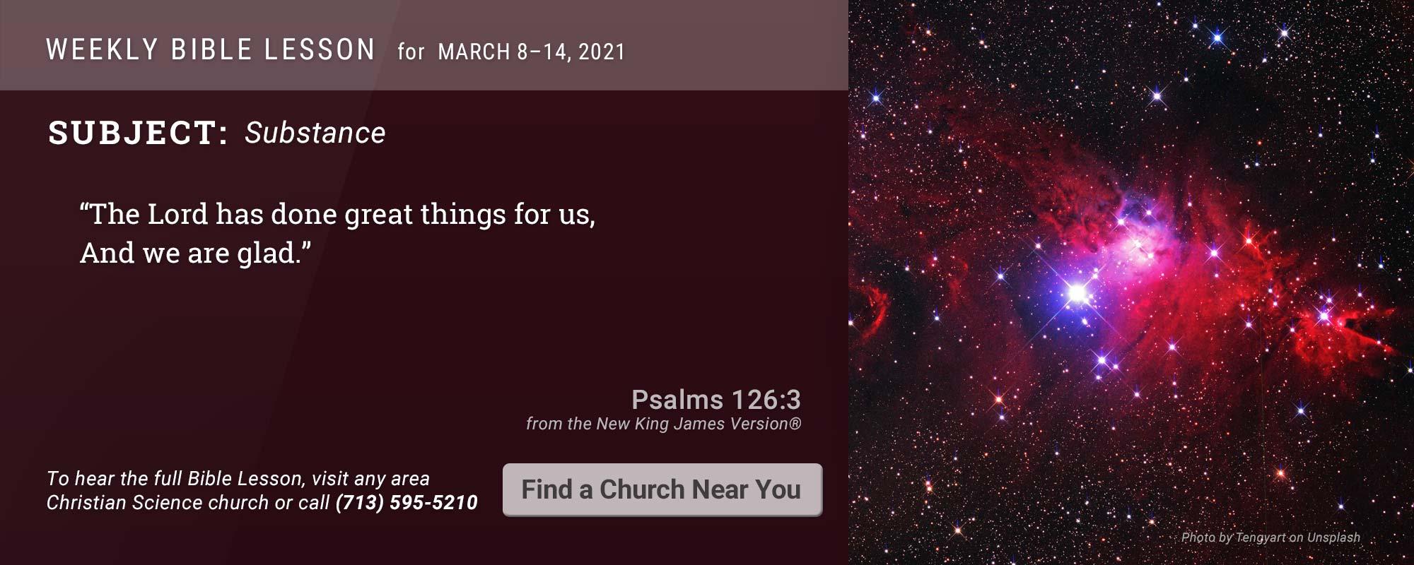 Bible Lesson Golden Text 20210308