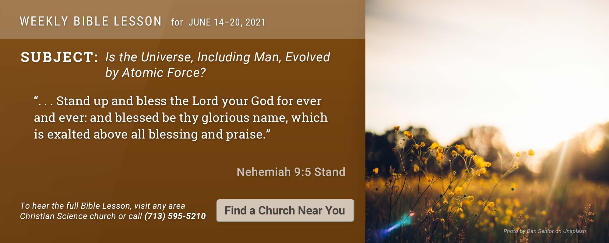 Bible Lesson Golden Text 20210614